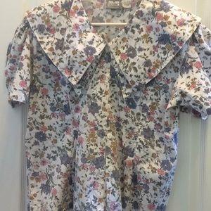 Tops - Ladies double collar bonjour shirt 22w
